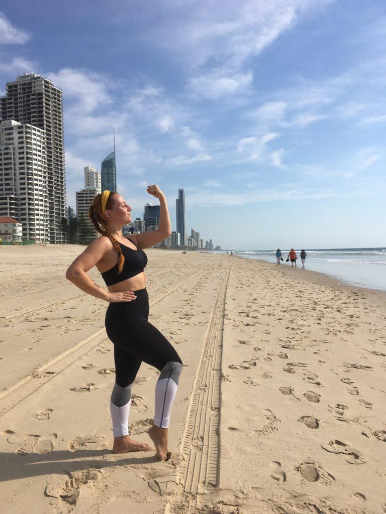 Běhání na Surfers Paradise, Gold Coast.