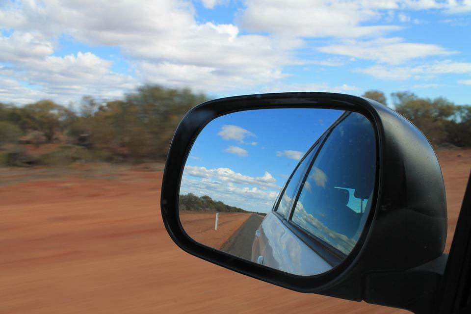 Red Dirt Western Australia Car Road Trip Mirror