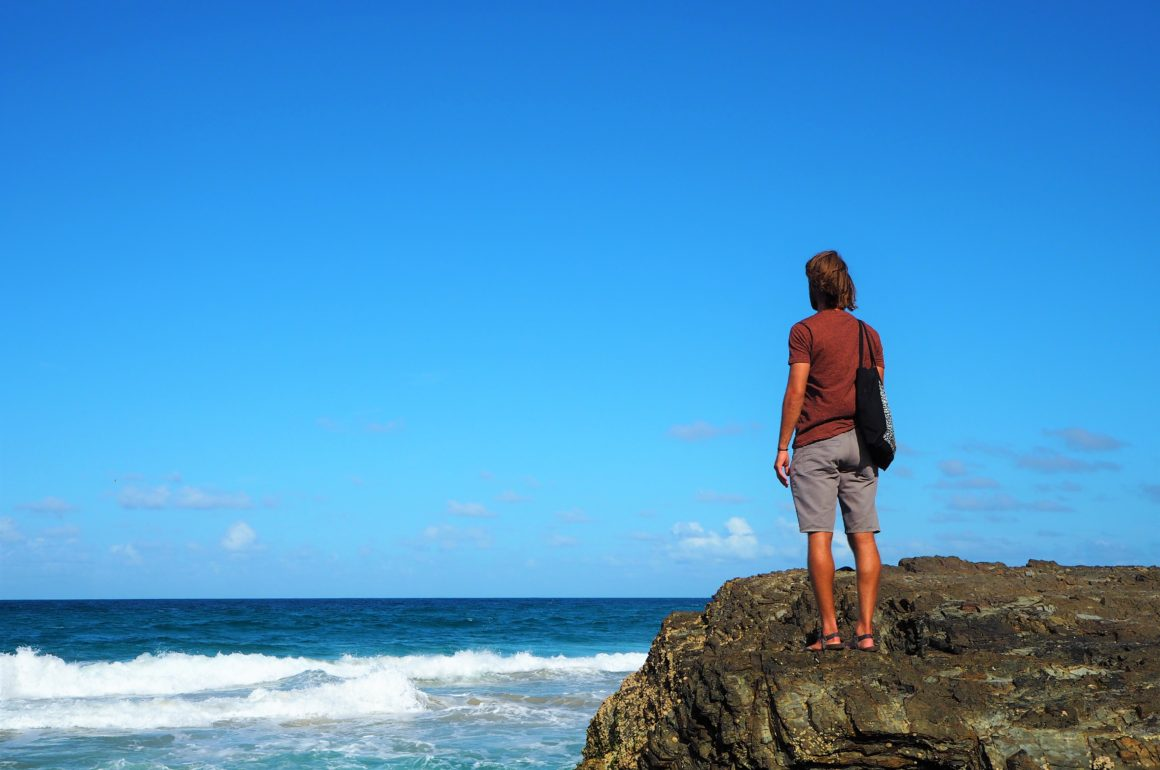 Adam na Snapper Rocks, Gold Coast, 2020.
