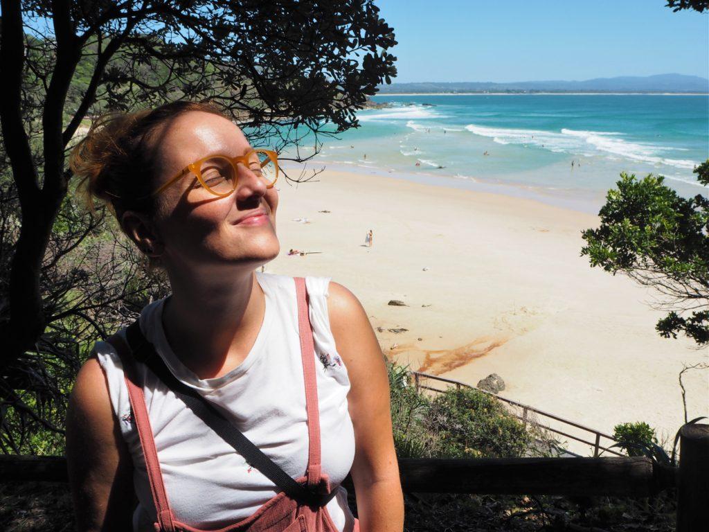 Lenka a Wategos Beach, Byron Bay, 2020