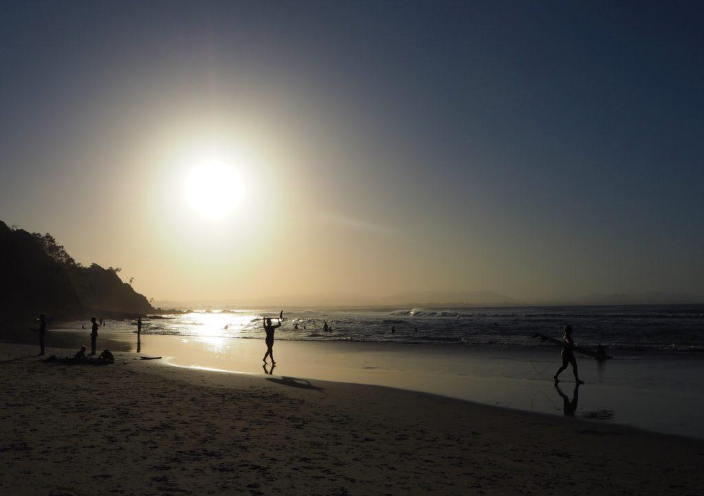 Západ Slunce, Wategos Beach, Byron Bay, 2020