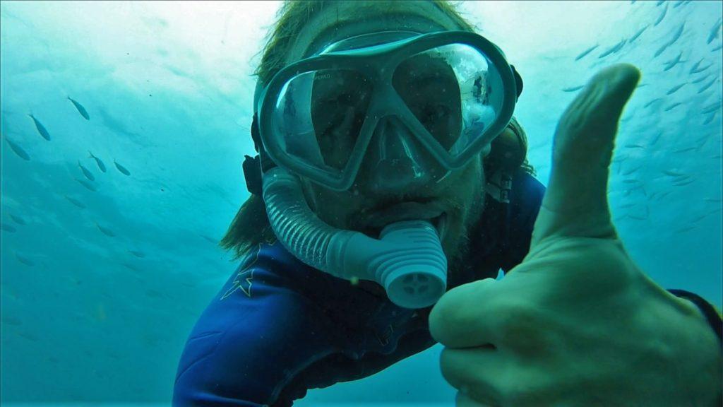 Potápění na Kirra Beach, Gold Coast, 2020.
