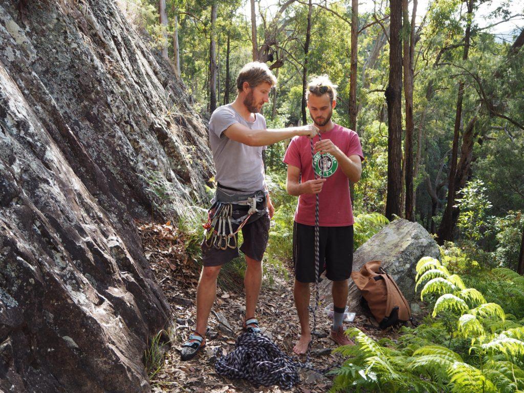 Martin a Adam na Pages Pinnacle, Gold Coast, 2020