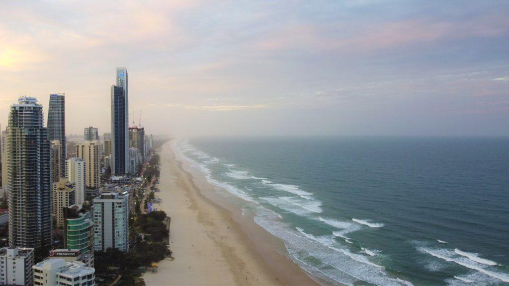 Surfers Paradise z ptačí perspektivy